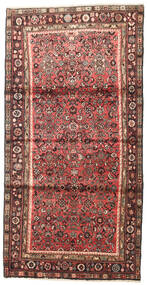Hosseinabad Tappeto 110X215 Orientale Fatto A Mano Rosso Scuro/Marrone Scuro (Lana, Persia/Iran)