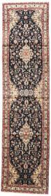 Mehraban Matta 85X350 Äkta Orientalisk Handknuten Hallmatta Ljusbrun/Mörkblå (Ull, Persien/Iran)
