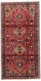 Hamadan Rug 100X205 Authentic  Oriental Handknotted Dark Red/Dark Brown (Wool, Persia/Iran)
