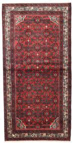Hosseinabad Rug 104X207 Authentic Oriental Handknotted Dark Red/Dark Brown (Wool, Persia/Iran)