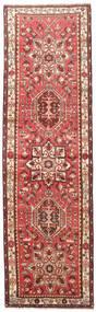 Heriz Matta 100X350 Äkta Orientalisk Handknuten Hallmatta Mörkröd/Beige (Ull, Persien/Iran)