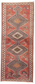 Shiraz Matto 73X185 Itämainen Käsinsolmittu Käytävämatto Vaaleanruskea/Violetti (Villa, Persia/Iran)