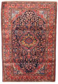 Jozan Matta 115X165 Äkta Orientalisk Handknuten Mörklila/Mörkröd (Ull, Persien/Iran)