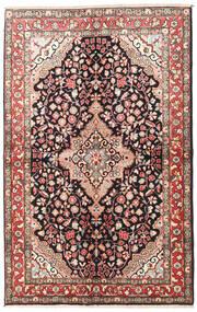 Jozan Dywan 145X225 Orientalny Tkany Ręcznie Ciemnobrązowy/Beżowy (Wełna, Persja/Iran)