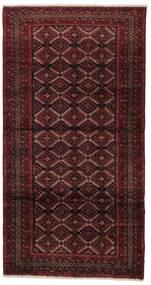 Beluch Matta 105X200 Äkta Orientalisk Handknuten Mörkröd (Ull, Persien/Iran)