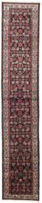 Hosseinabad Rug 75X405 Authentic  Oriental Handknotted Hallway Runner  Dark Brown/Dark Grey (Wool, Persia/Iran)