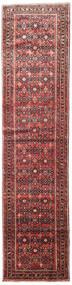 Hosseinabad Rug 88X370 Authentic  Oriental Handknotted Hallway Runner  Dark Red/Dark Brown (Wool, Persia/Iran)