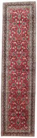 Mashad Matta 98X390 Äkta Orientalisk Handknuten Hallmatta Mörkblå/Mörkröd (Ull, Persien/Iran)