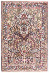 Kerman Matta 120X180 Äkta Orientalisk Handknuten Mörkgrå/Lila (Ull, Persien/Iran)