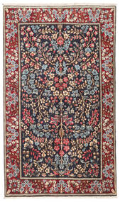 Kerman Tæppe 93X157 Ægte Orientalsk Håndknyttet Mørkerød/Sort (Uld, Persien/Iran)