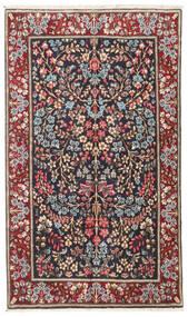 Kerman Χαλι 93X157 Ανατολής Χειροποιητο Σκούρο Κόκκινο/Μαύρα (Μαλλί, Περσικά/Ιρανικά)