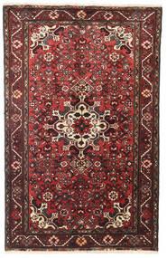 Hosseinabad Matta 100X159 Äkta Orientalisk Handknuten Mörkröd/Brun (Ull, Persien/Iran)