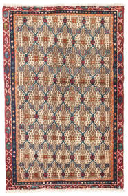 Hamadan Rug 79X121 Authentic  Oriental Handknotted Brown/Beige (Wool, Persia/Iran)