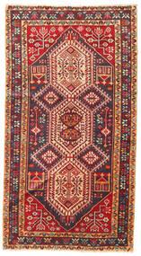 Beluch Tæppe 103X190 Ægte Orientalsk Håndknyttet Mørkerød/Mørkebrun (Uld, Persien/Iran)