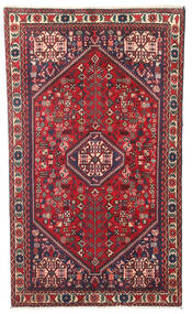 Abadeh Rug 88X150 Authentic  Oriental Handknotted Dark Red/Crimson Red (Wool, Persia/Iran)