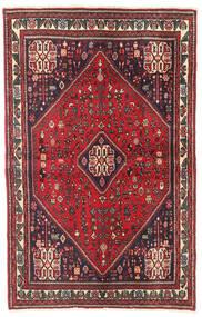 Abadeh Tapis 104X163 D'orient Fait Main Rouge/Rouge Foncé (Laine, Perse/Iran)