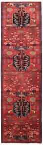 Saveh Rug 85X294 Authentic  Oriental Handknotted Hallway Runner  Dark Red/Rust Red/Dark Brown (Wool, Persia/Iran)