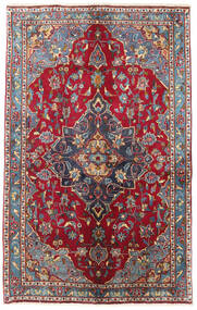 Kashmar Vloerkleed 125X198 Echt Oosters Handgeknoopt Beige/Donkerrood (Wol, Perzië/Iran)