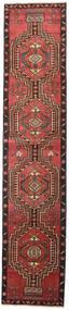 Ardabil Patina Covor 81X385 Orientale Lucrat Manual Roșu-Închis/Maro (Lână, Persia/Iran)