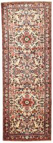 Hamadan Matta 100X284 Äkta Orientalisk Handknuten Hallmatta Ljusbrun/Beige (Ull, Persien/Iran)