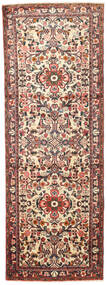 Hamadan Rug 100X284 Authentic  Oriental Handknotted Hallway Runner  Dark Brown/Light Brown (Wool, Persia/Iran)