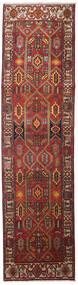 Heriz Tapis 100X383 D'orient Fait Main Tapis Couloir Rouge Foncé/Marron Clair (Laine, Perse/Iran)