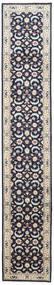 Kashmar Covor 72X405 Orientale Lucrat Manual Negru/Bej (Lână, Persia/Iran)