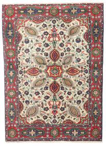Tabriz Matto 99X138 Itämainen Käsinsolmittu Vaaleanharmaa/Musta (Villa, Persia/Iran)
