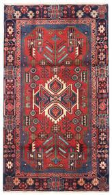 Nahavand Tapis 100X180 D'orient Fait Main Rouge Foncé/Violet Foncé (Laine, Perse/Iran)