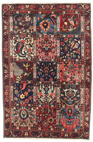 Bakhtiari Rug 98X148 Authentic  Oriental Handknotted Black/Dark Red (Wool, Persia/Iran)