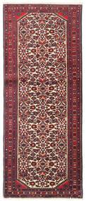 Hamadan Rug 78X196 Authentic Oriental Handknotted Hallway Runner Dark Red/Black (Wool, Persia/Iran)
