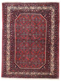 Hamadan Patina Matta 104X136 Äkta Orientalisk Handknuten Mörklila/Mörkbrun (Ull, Persien/Iran)