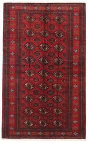 Baluch Rug 127X206 Authentic  Oriental Handknotted Dark Red/Dark Brown (Wool, Persia/Iran)