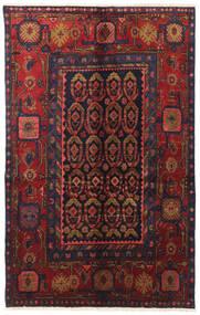 Nahavand Tapete 130X205 Oriental Feito A Mão Vermelho Escuro/Verde Escuro (Lã, Pérsia/Irão)