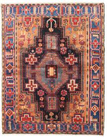 Nahavand Rug 127X160 Authentic Oriental Handknotted Dark Red/Dark Purple (Wool, Persia/Iran)