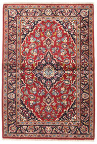 Keshan Matto 110X160 Itämainen Käsinsolmittu Tummanpunainen/Tummanvioletti (Villa, Persia/Iran)