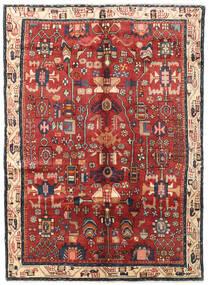 Nahavand Matto 160X222 Itämainen Käsinsolmittu Tummanpunainen/Tummanharmaa (Villa, Persia/Iran)
