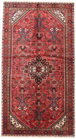 Hamadan Matta 150X270 Äkta Orientalisk Handknuten Mörkröd/Mörkbrun (Ull, Persien/Iran)