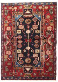 Nahawand Dywan 110X155 Orientalny Tkany Ręcznie Ciemnofioletowy/Brązowy (Wełna, Persja/Iran)