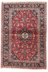 Keshan Rug 100X145 Authentic  Oriental Handknotted Dark Purple/Dark Red (Wool, Persia/Iran)