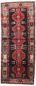 하마단 러그 115X275 정품  오리엔탈 수제 복도용 러너  블랙/다크 레드 (울, 페르시아/이란)