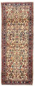 Hosseinabad Rug 75X195 Authentic Oriental Handknotted Hallway Runner Light Brown/Dark Blue (Wool, Persia/Iran)
