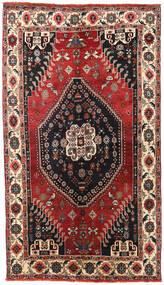Shiraz Tappeto 145X255 Orientale Fatto A Mano Rosso Scuro/Nero (Lana, Persia/Iran)