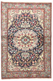 Kerman Rug 92X140 Authentic  Oriental Handknotted Beige/Dark Grey (Wool, Persia/Iran)