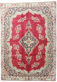 Kerman Rug 195X275 Authentic  Oriental Handknotted Beige/Dark Red (Wool, Persia/Iran)