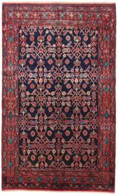 Nahavand Koberec 160X260 Orientální Ručně Tkaný Černá/Tmavě Červená (Vlna, Persie/Írán)