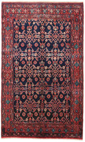 Nahavand Rug 160X260 Authentic  Oriental Handknotted Black/Dark Red (Wool, Persia/Iran)