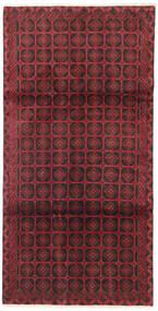 Beluch Matta 105X195 Äkta Orientalisk Handknuten Mörkröd/Mörkbrun/Röd (Ull, Persien/Iran)