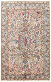 Kerman Szőnyeg 150X240 Keleti Csomózású Sötét Bézs/Világosbarna (Gyapjú, Perzsia/Irán)