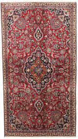 Meszhed Dywan 140X245 Orientalny Tkany Ręcznie Ciemnobrązowy/Ciemnoczerwony (Wełna, Persja/Iran)